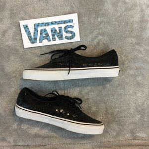 Black Sequin Vans